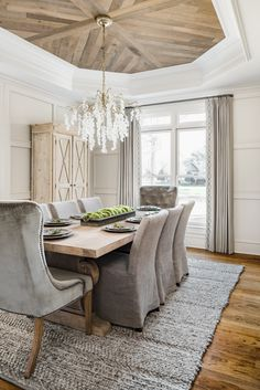 Dining Room Drapes, Tuscan Dining Rooms, Dining Room Wainscoting, Dining Room Lighting, Dining Room Design, Dining Room Chairs, Formal Dining Rooms, Small Dining Rooms, Dining Room Modern