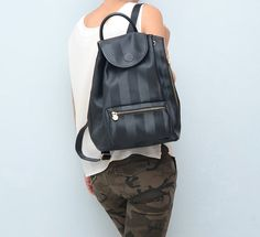 Vintage FENDI black backpack // rucksack // bag by #ZvezdanaVintage, $265.00