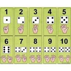 Number and die Numbers Preschool, Math Numbers, Preschool Math, Teaching Math, Kindergarten Math Worksheets, Math Resources, Math Games, Preschool Activities, Classroom Crafts