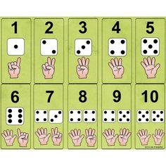 Number and die Numbers Preschool, Math Numbers, Teaching Math, Preschool Activities, Kindergarten Math Worksheets, Math Resources, Classroom Crafts, Classroom Activities, 1st Grade Math
