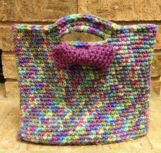Crochet gift bag