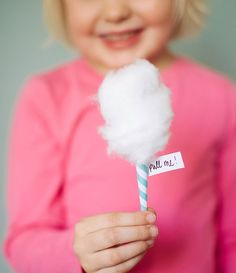 "DIY Mini Cotton ""Candy"" Invitations 