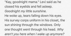 Kuchel and Levi part 4<<NOOO THIS IS SO SAAAAD