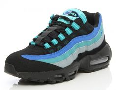 Nike Air Max 95   Black / Hyper Cobalt