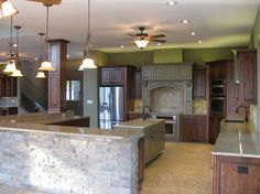 Multi colored cabinets  Woodview - traditional - kitchen - little rock - Hughes Design and Construction, Inc