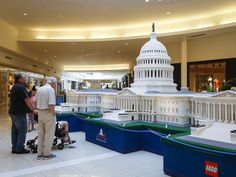 Lego landmarks lure learners in Kenwood. Photo: Shoppers in the Kenwood Towne Center stop to admire a LEGO sculpture of the U.S. Capitol Building Tuesday afternoon. The LEGO Americana Roadshow is a traveling display of 10 large-scale LEGO models replicating some of our nation's landmarks on display in Kenwood until July 19. The Enquirer/Madison Schmidt