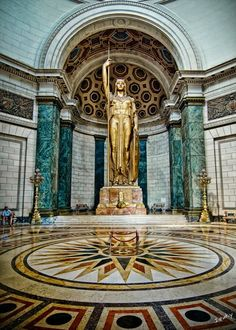 The Statue of the Republic - El Capitolio, Havana, Cuba. The 3rd largest indoor statue in the world.