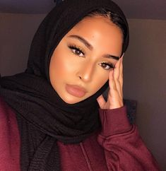💕 Headwrap + Turban Shop 💕 by Crownned Hijabs, Hijab Mode Inspiration, Head Wraps For Women, Mode Turban, Darkest Black Color, Head Scarf Styles, Hijabi Girl, Scarf Hairstyles, Muslim Fashion