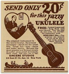 To think that now it costs about $60 for the low-end decent uke.