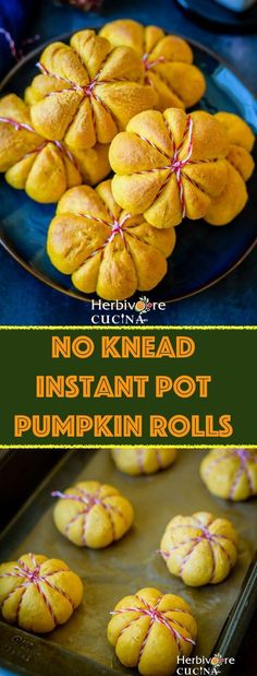 Herbivore Cucina: No Knead Instant Pot Pumpkin Rolls.Fall is upon us and we are kicking off the season with these petite pumpkin rolls. No knead, whole wheat, super flavorful and SO much fun to make! Proofed in the Instant Pot, these rolls are a must tr Keto Friendly Desserts, Low Carb Desserts, Dessert Recipes, Brownie Recipes, Breakfast Recipes, Pumpkin Rolls, Pumpkin Bread, Pumpkin Recipes, Fall Recipes