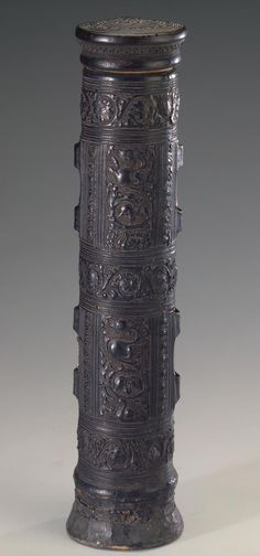 Scroll Case Place of creation: Italy Date: 15th century Material: leather, wood Technique: stamped Dimensions: h. 35 cm ...