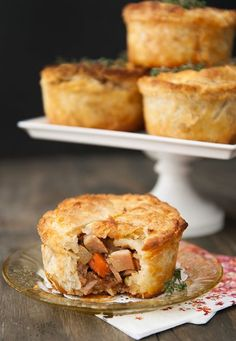 Chicken Pot Hand Pies.  I would probably cut some time out by using a store bought rotisserie chicken.