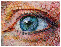 "Be ▲rtist Be ▲rt (@BeArtist_BeArt) | ""Bottled Eyes"" by Mary Ellen Croteau – UPCYCLE by @CarolineSrivast http://crwd.fr/2m0milm"