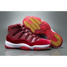 "c5cce35294eb81 2017 Air Jordan 11 GS Velvet ""Heiress"" Night Maroon Metallic Gold-Night  Maroon Lastest 4iAKZx6. Nike ShoesNew ..."
