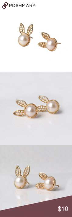 Gold Bunny Stud Earrings Buy any two Jewelry Get the 3rd one free❤️❤️ Prices will depend the highest two- For example ' if you pick jewelry $10,$11 and $9, the prices will be 10+ 11= 21 and you will get the 9 dollars jewelry free, limited in stock, today only ❤️❤️ simply add the items you like in a bundles and i will give you the right offer, or simply leave me a comment on the items you want =) Jewelry Earrings