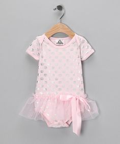 Take a look at this Pink & Silver Crown Skirted Bodysuit - Infant by Twinkle Couture on #zulily today!