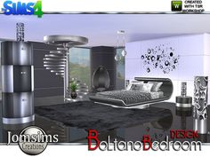 Boltano Design Bedroom by jomsims at TSR via Sims 4 Updates