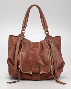 soft brown leather hobo bag