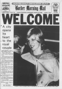March 23, 1983: Princess Diana in arrives at Albury airport, Wodonga, Australia.