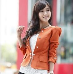 womens fashion casual blazers Puffy Sleeves buybuyseller
