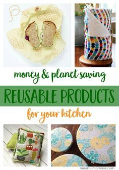 These reusable kitchen products will save you money plus they are ecofriendly and much nicer to use than wasteful disposable products waste free zero waste healthy nat. Recycling, Reuse Recycle, Upcycle, Natural Living, Simple Living, Organic Living, Natural Baby, Zero Waste, Reduce Waste