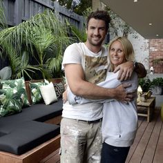 On The Block triple Threat last night we saw the final room reveals. the Terraces. What did you think about them? Outdoor Living Areas, Outdoor Rooms, Outdoor Seating, Outdoor Ideas, Small Backyard Design, Small Backyard Landscaping, Backyard Cabana, Terraces, Deck