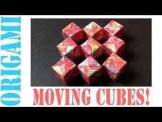 sonobe moving cube ********** This is so cool that I am breaking my rule of only one sheet of paper in a figure. Must try!