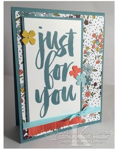 "Stepping It Up For You is made with Stampin' Up's ""Botanicals for You"" stamp set."