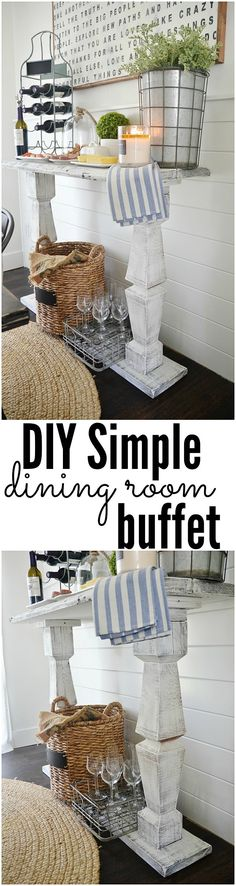 Diy Simple Dining Room Buffet -