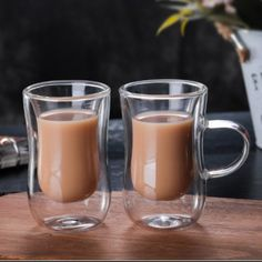 Buy European Double Coffee Mug Heat-resistant Double Glass Cappuccino Cup Milk Cup Juice Cup New Cafe Office shipping Glass Tea Cups, Glass Coffee Mugs, Ceramic Coffee Cups, Funny Coffee Mugs, Coffee Glasses, Cup Of Coffee, Cool Coffee Cups, Coffee Mugs Vintage, Tea Glasses
