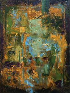 """Sky Window by Donald Fox Oil ~ 40"""" x 30"""""""