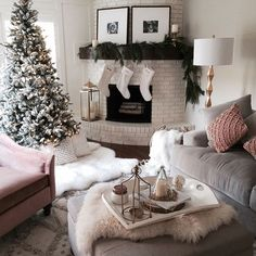 My favorite cozy corner of our home.  // http://liketk.it/2pLJY @liketoknow.it #liketkit @liketoknow.it.home #ltkhome #christmastree #mypotterybarn