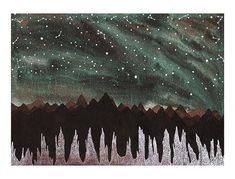 Aurora Borealis and the Ice Forest Print
