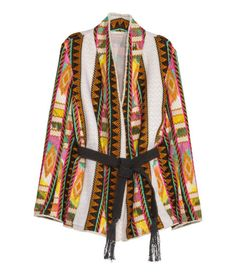 H&M - Jacquard-weave Jacket - Light beige/patterned - Ladies Blazers For Women, Jackets For Women, Ladies Blazers, Fashion Week, Fashion Online, Fashion And Beauty Tips, H&m Women, Spring Jackets, Jacquard Weave