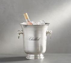Antique Silver Sentiment Wine Bottle Cooler   Pottery Barn
