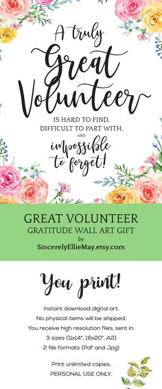"What better way to say ""thanks"" compared to exceptional thank you gift inspiring ideas they can. Volunteer Appreciation Gifts, Appreciation Message, Volunteer Gifts, Volunteer Ideas, Thank You Notes, Thank You Gifts, Thank You Baskets, Volunteer Quotes, Thank You Printable"