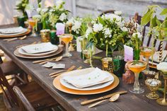 rustic and fancy table setting
