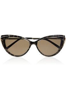 Yves Saint Laurent|Cat eye-framed printed acetate sunglassses|NET-A-PORTER.COM - StyleSays