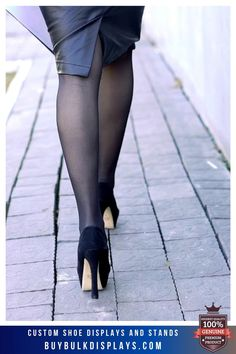 Dress With Stockings, Lady Stockings, Stockings Heels, Pantyhose Fashion, Pantyhose Heels, Fashion Heels, Sexy Legs And Heels, Hot Heels, Black Opaque Tights
