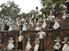 Chandigarh- Nek Chand's rock garden art mosaic people on Flick