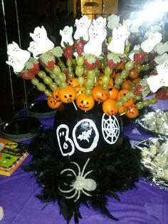 Halloween fruit kabob