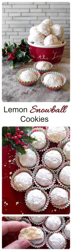 These Lemon Snowball Cookies are the perfect holiday cookie. They are light and delicious with a melt-in-your-mouth-texture