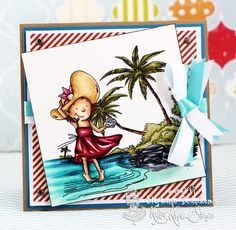 A World of Creative Possibilities: Kraftin' Kimmie Stamps : New release day 4, At the beach!
