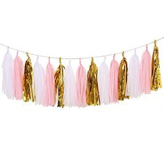 Ling's moment 15pcs Tissue Paper Tassels Garland, Mixed 3 Colors(Ivory+Pink+Shiny Gold) Ling's Moment http://www.amazon.com/dp/B014KNUTGW/ref=cm_sw_r_pi_dp_cerTwb0K4T10W