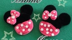 MINNIE MOUSE HECHA CON LIMPIA PIPAS.- PIPE CLEANERS MINNIE MOUSE . DIY - YouTube