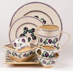 Pansy Nicholas Mosse Pottery & Dinnerware Handmade & decorated in County Kilkenny, Ireland Irish Pottery, Pottery Making, Pansies, Ceramic Pottery, Dinnerware, Helpful Hints, Ireland, Tea Cups, Art Pieces