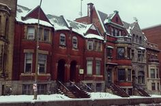 #Montreal #rowhouses #architecture #winter #travel