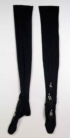1890-1899, America - Silk stockings