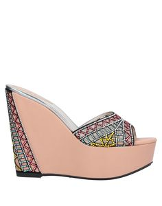Suede effect Techno fabric Rhinestones Multicolor pattern Round toeline Wedge heel Covered wedge Leather lining Rubber sole Contains non-textile parts of animal origin Caovilla Rene, Burberry Handbags, Velcro Straps, Sportswear Brand, Black Sandals, Wedge Heels, Heeled Mules, Bag Accessories, Wedges