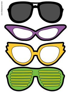 Glasses from Dinosaur Printable Photo Booth Prop Set